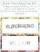 Superhero Adjective Sort + Superhero Coloring Pages