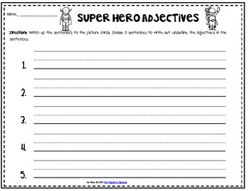 Superhero Adjectives