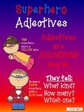 Superhero Adjectives: 5 Center Activities