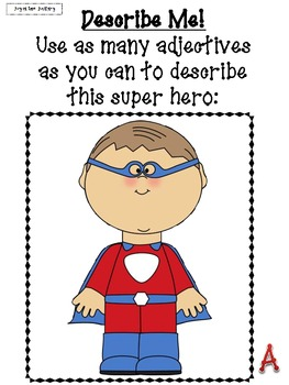 Superhero Adjectives: 5 Center Activities
