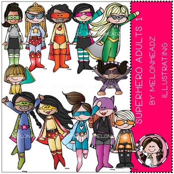 Superhero clip art - Adults 1 - by Melonheadz