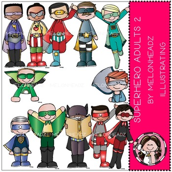 Superhero clip art - Adults 2 - COMBO PACK- by Melonheadz