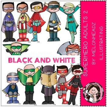 Superhero Adults 2 by Melonheadz BLACK AND WHITE