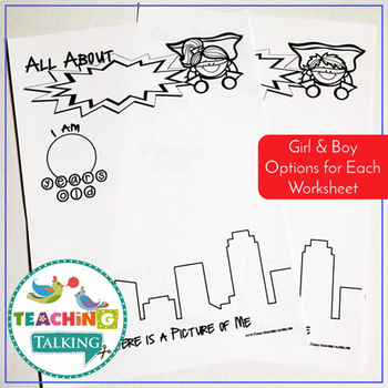 Superhero All About Me Activity