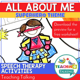 Superhero All About Me Worksheet and Coloring Page