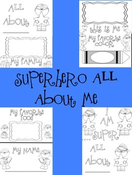 Superhero All About Me Book