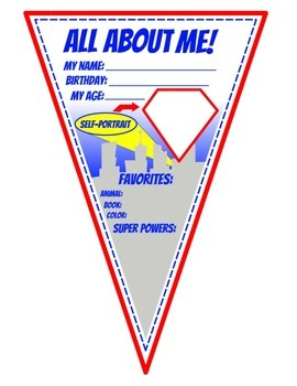 Superhero All About Me Pennant