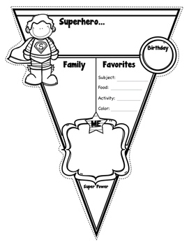 Superhero All About Me Pennants