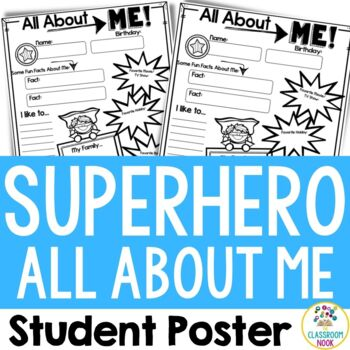 """Superhero Theme: """"All About Me"""" Poster"""