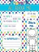 Superhero All About Me Posters