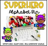Superhero Alphabet Bin