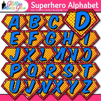 Superhero Alphabet Clip Art {Teach Letter Recognition and Identification}