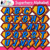 Superhero Alphabet Clip Art | Teach Letter Recognition and Identification