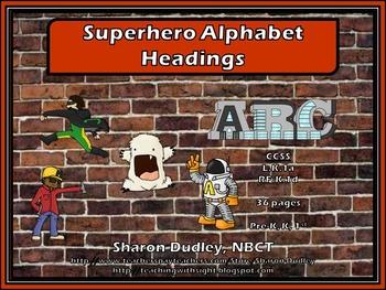 Superhero Alphabet Headings