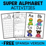Phonics Worksheets - Superhero Theme Alphabet