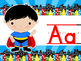 Superhero Alphabet Line