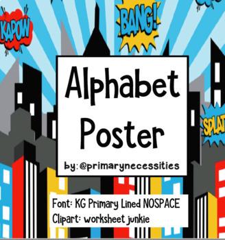 Superhero Alphabet Poster By Primary Necessities
