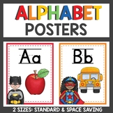 Alphabet Posters Superhero Themed