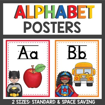 Alphabet Posters Superhero Themed