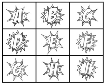 Superhero Alphabet Sets