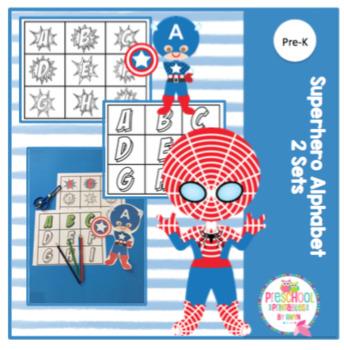 Superhero Alphabet Sets