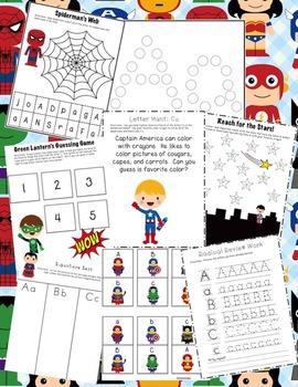 Superhero Alphabet Unit (36 weeks, 40+ games/activities) Letter Recognition