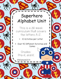 Superhero Alphabet Unit (36 weeks, 40+ games/activities) Letter Recognition