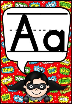 Superhero Alphabet and Numbers 1-20 Posters
