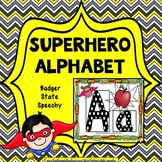 Alphabet Posters with Pictures Superhero