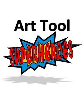 Superhero Art Tools Poster