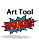 Superhero Art Tools Poster