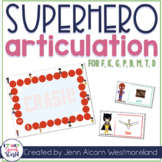 Superhero Articulation Cards for Speech Therapy {Early Developing Sounds}