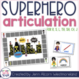 Superhero Articulation Cards for Speech Therapy {Later Sounds}