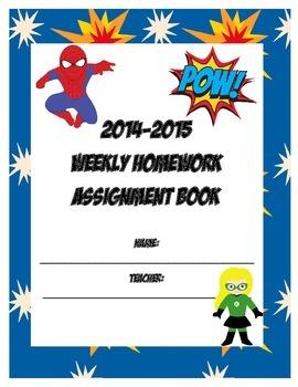 Superhero Assignment Book