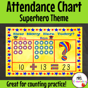 Superhero Attendance Chart – How Many Here Today?