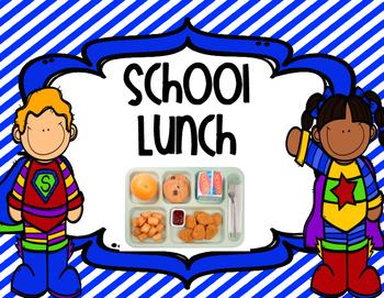 Superhero Attendance & Lunch Clip Chart