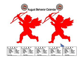 Superhero August Behavior Calendar