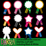 Superhero Award Ribbons Clip Art