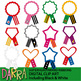 Superhero Award Ribbons Clip Art