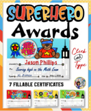 Superhero Awards- Animals {Fillable}