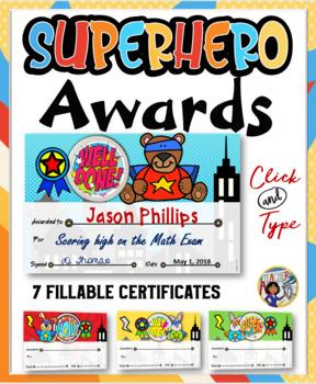Superhero Awards- Animals {Fillable}