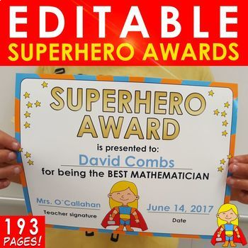 Superhero Awards / Certificates