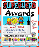 Superhero Awards {Fillable}