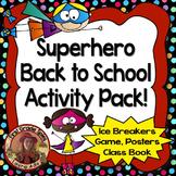 Superhero Back to School Activities Pack