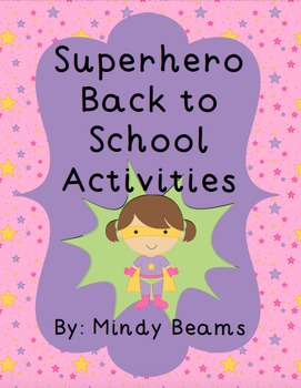 Back to School Activities - Superhero