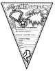 Superhero Back to School Color Your Own Pennant All About Me!