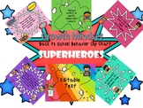 Superhero Back to School Growth Mindset Behavior Clip Chart