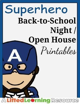 Superhero Back to School Night/Open House Printables (Avengers)