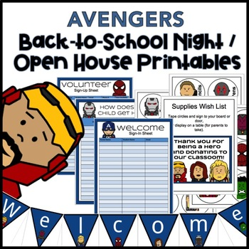 superhero back to school night/open house printables (avengers) | tpt, Powerpoint templates