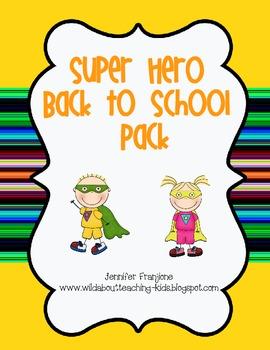Superhero Back to School Pack